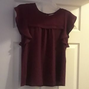 Maroon blouse small